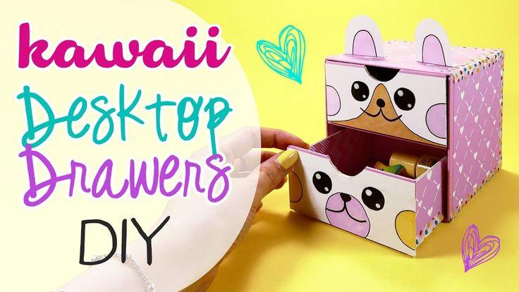 DIY Kawaii desktop drawers - Cassettiera da scrivania!