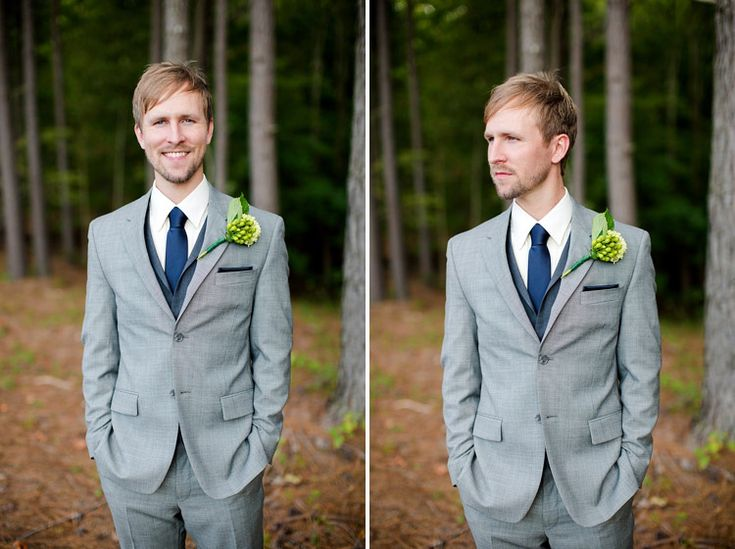 Grey suit with vest,To find more wedding planning tips, DIY, dress ideas and more GO TO: www.endingiseternity.com
