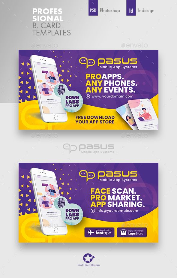 Mobile App Business Card Templates Banner Ads Design Mobile App Email Template Design