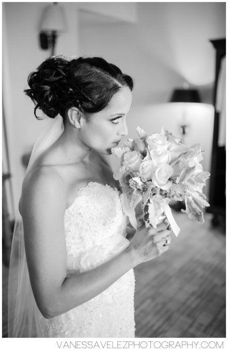 The bride prepares before her walk down the aisle. Destination Wedding | El Conquistador Resort & Las Casitas Village | Puerto Rico | ElConResort.com Vanessa Velez Photography