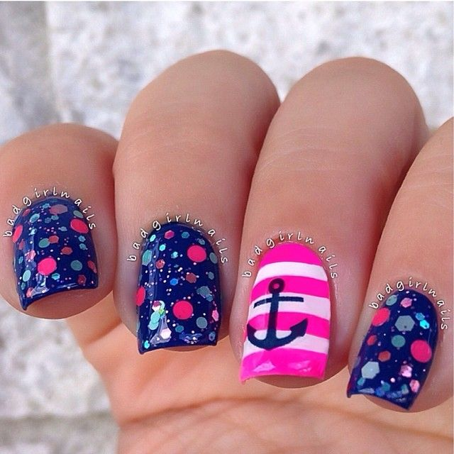 nauthical design and pink stripes check out my etsy store for