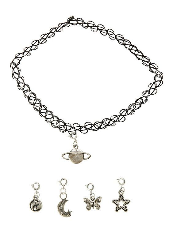 Multi Charm Tattoo Choker,