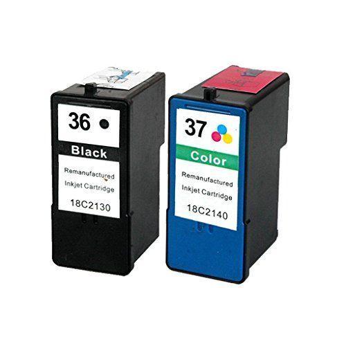 Caidi 2x Compatible Cartouches d'encre d'imprimante Lexmark 36 XL 37 XL pour Lexmark X3650 X4650 X5650 X6650 X6675 Z2420 #Caidi #Compatible #Cartouches #d'encre #d'imprimante #Lexmark #pour