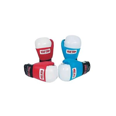 Topten Olympic AIBA Stamp Contest 10oz Glove (Blue and White) Popular Top Ten Competition Glove. All leather with logo on velcro fastening wrist strap. AIBA approved stamp on glove. http://www.comparestoreprices.co.uk/boxing-equipment/topten-olympic-aiba-stamp-contest-10oz-glove-blue-and-white-.asp