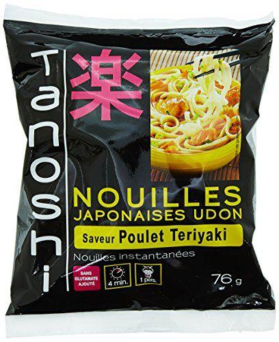 Tanoshi Nouilles Udon Instantanées Poulet 76 g: Les nouilles instantanées Sans glutamate ajoute 1 Personne Cet article Tanoshi Nouilles…