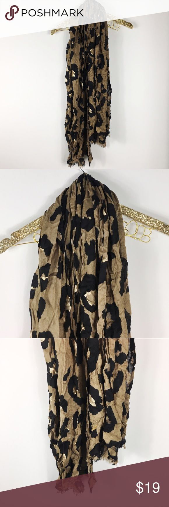 Express Leopard Print Scarf Express tan leopard print scarf. Excellent pre-owned condition. No modeling/trades. Express Accessories Scarves & Wraps