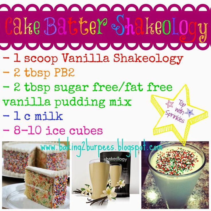Vanilla Shakeology Cake Batter Recipe