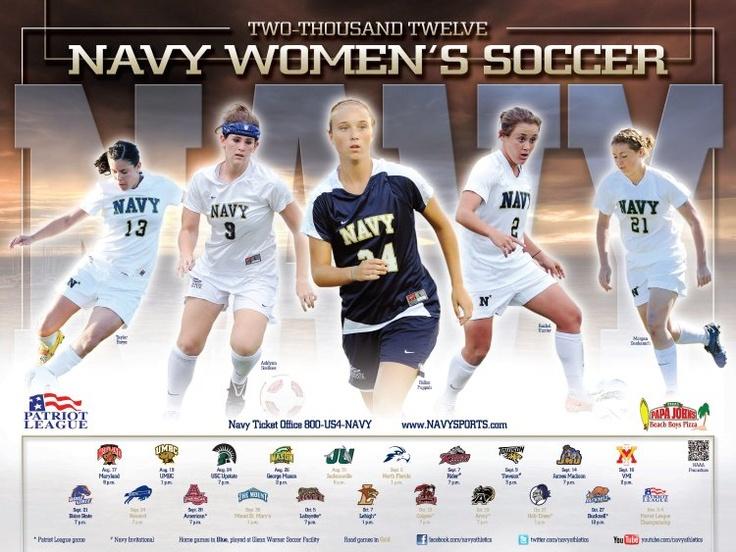2012 navy womens soccer poster womens soccer soccer