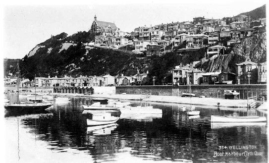 Wellington boat harbour, Clyde Quay. 1905