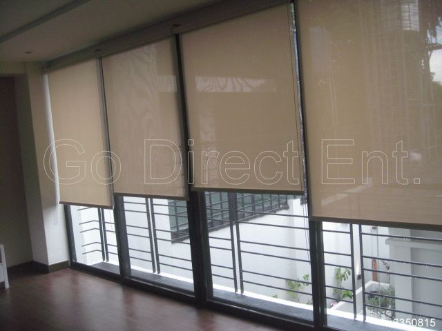 Solar roller shade on a sliding door | Sliders and Patio Door ...