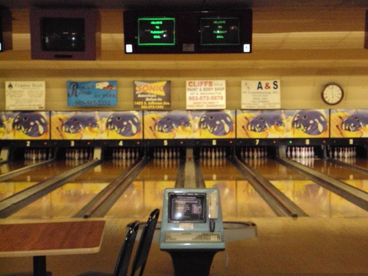 Bowling alley interior