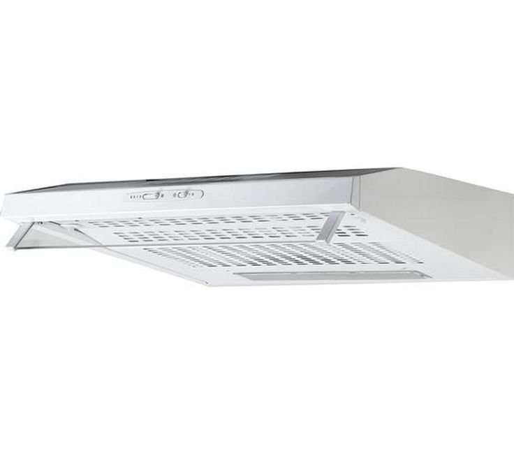 ESSENTIALS C60SHDW15 Visor Cooker Hood - White Curry's £29.99