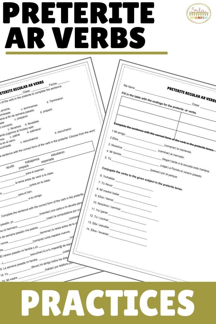 Stem Changing Verbs Worksheet Answers Preterite Ar Regular Verbs Practices Verb Practice High School Spanish Preterite [ 1104 x 736 Pixel ]