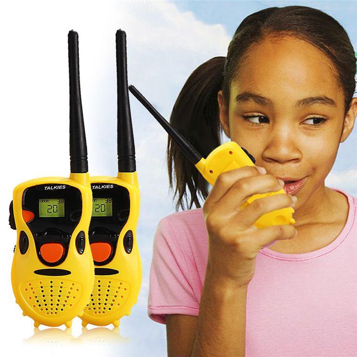 Bayi Genggam Walkie Talkie Mainan Anak Pendidikan Permainan anak-anak hadiah Kuning Merek