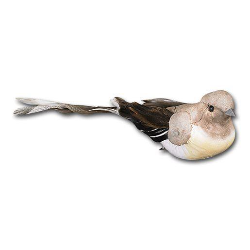 Fågel med klämma, brun/beige C047-1651