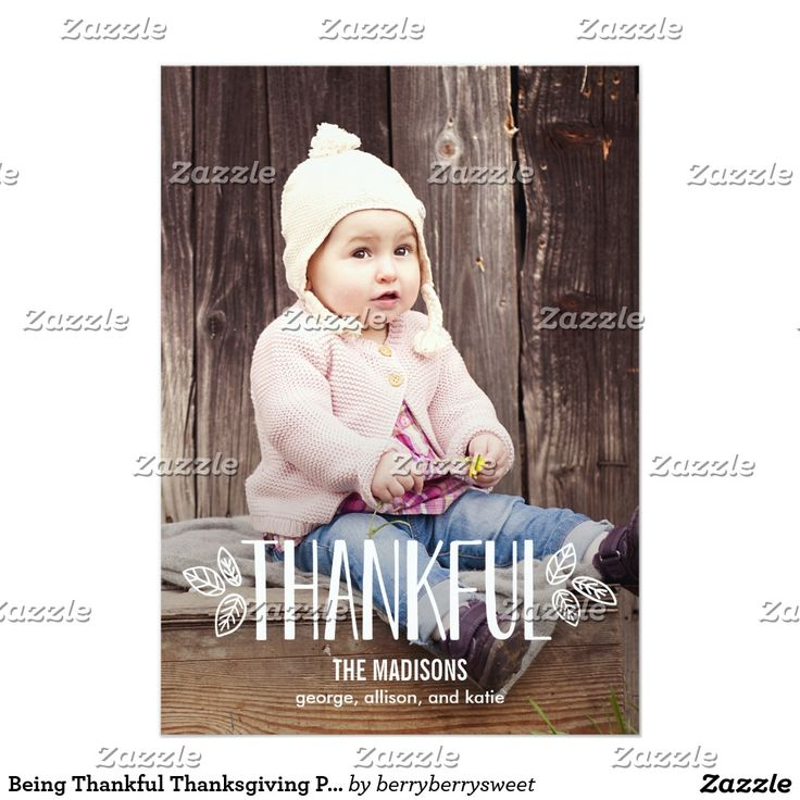 Being Thankful Thanksgiving Photo Cards