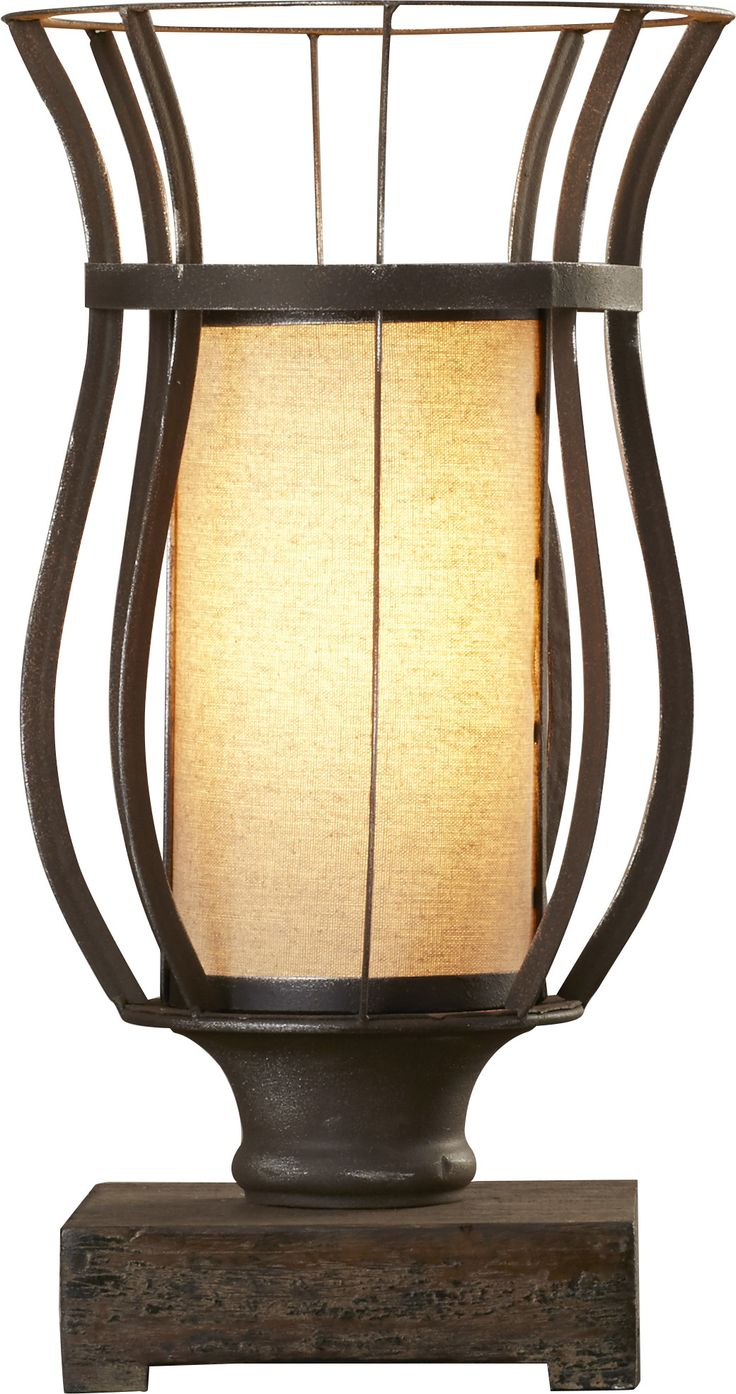 """Razoredge 18"""" Table Lamp with Drum Shade"""