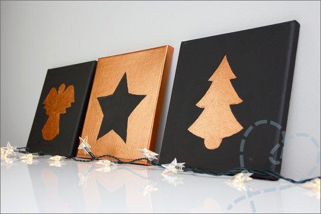 schilderijen kerst canvas