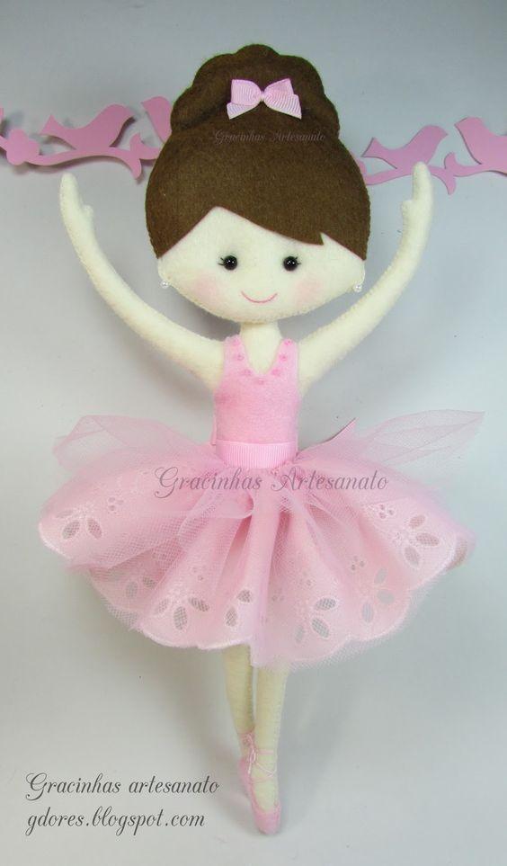 Felt ballerina Gracinhas Artesanato: