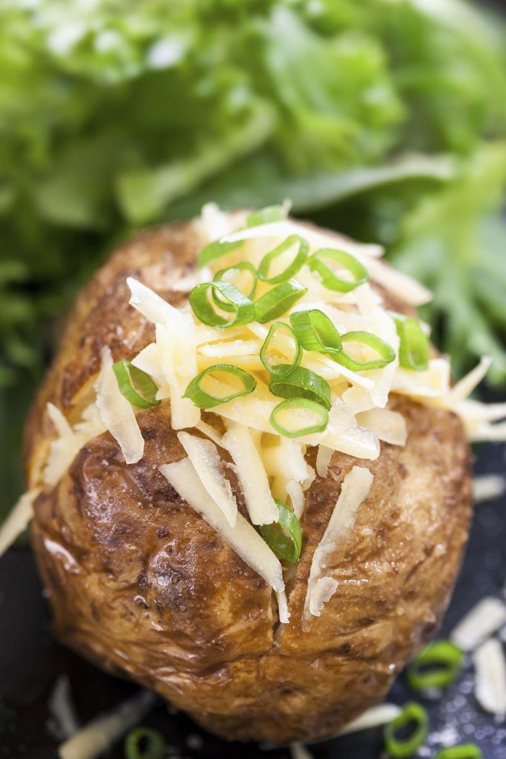 Stock gepofte aardappel