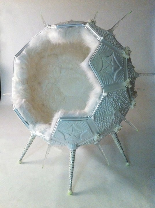 Fluffy pod chair, it just needs a closable door for ...