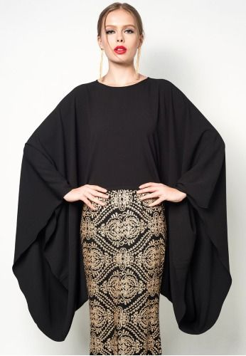 RIZALMAN FOR ZALORA Rahmah Cape Top