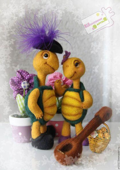 Animal toys, handmade.  Fair Masters - handmade.  Buy Turtles.  Handmade.  Turtle, anniversary, Valentine's Day