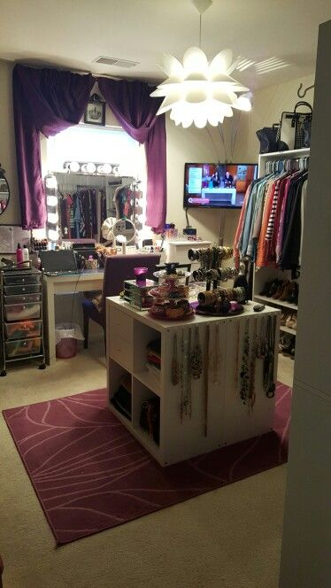 "Spare Room turned Closet ""Diva Room"" #manchesterwarehouse"