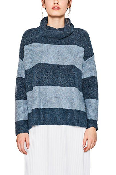 edc by ESPRIT Damen Pullover 107CC1I042 Blau (Teal Blue 455), Small -  Pullover pulli pullis polover pullunder pullis pullove…   Pullover Trends  Frauen ... 0d0d7b4f8c