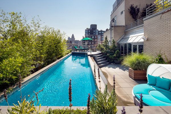 One year later leonard street penthouse chops 5 5 - Hotel new york swimming pool roof ...