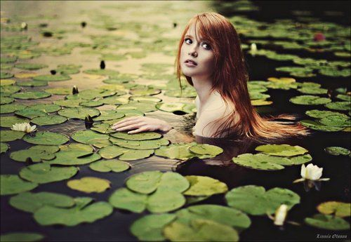 Tumblr: Beautiful Redheads, Inspiration, Dreams, Lakes, Water Nymphs, Photography, The Little Mermaids, Water Lilies, Fairies Tales