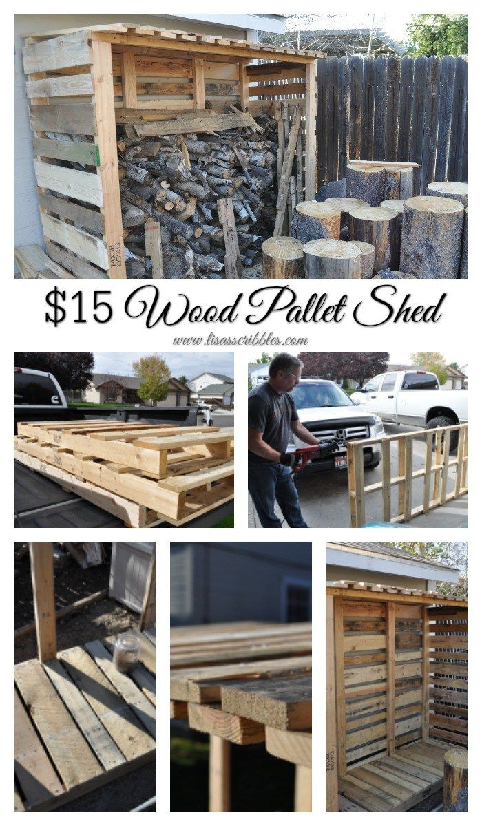 From nothing to something, check out this $15 Pallet Wood Shed idea.