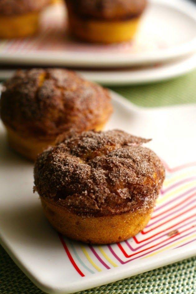 Cinnamon Crunch Butternut Squash Muffins ~ via this blog, The Two Bite Club.