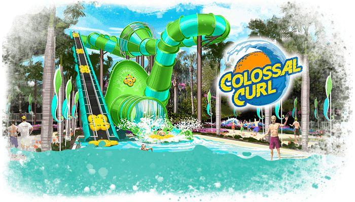 Busch Gardens Adventure Island Waterpark Newest Slide