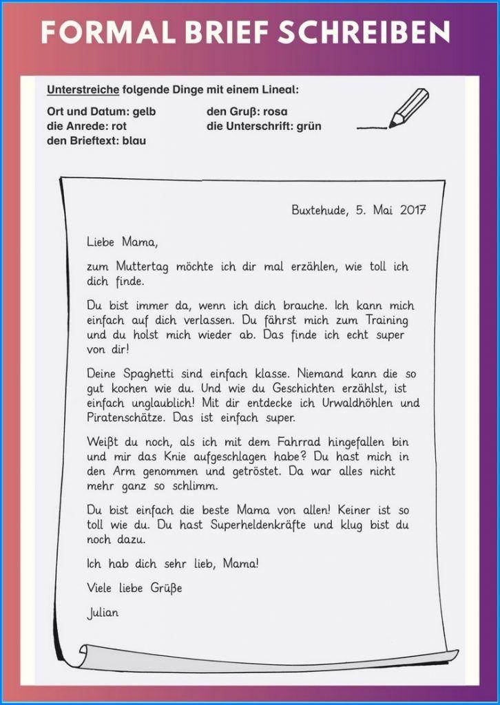 Brief Schreiben Aufbau Formal Printables Personalized Items