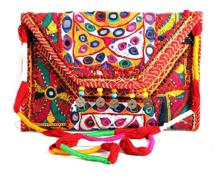 Embroidery Ethnic Sling Tablet Bag www.styleincraft.com #EmbroideryBag #TabletBag #HandmadeBag