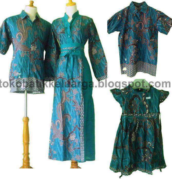 gamis batik sarimbit keluarga modern toska SK15 harga murah di toko online http://tokobatikkeluarga.blogspot.com/