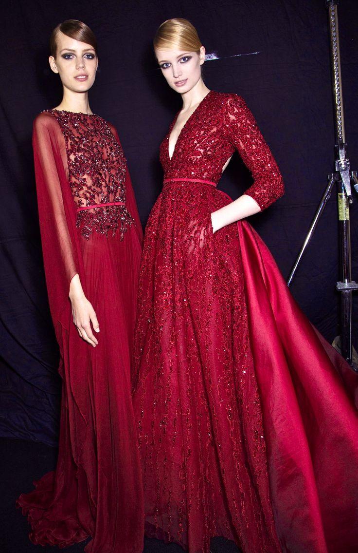 inspiration | black cherry bridesmaids | elie saab | via: heart over heels