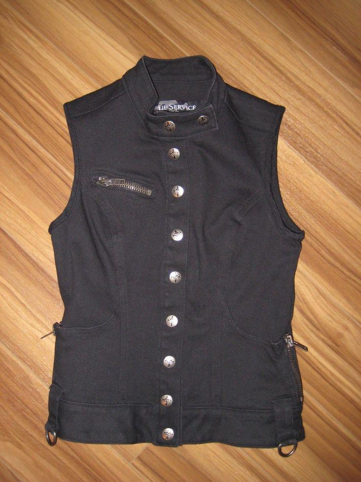 "LIP SERVICE Stretch F**k'n Twill ""Zombie Rock"" vest #63-276"