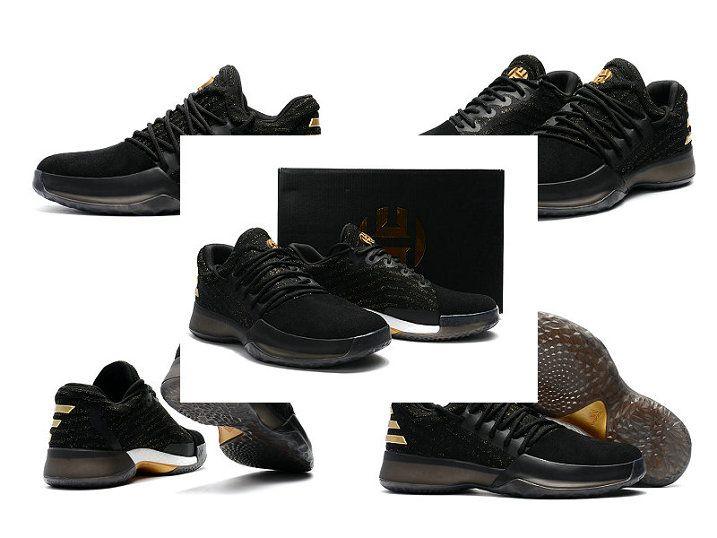 timeless design 9b868 aecbe Free Shipping Only 69 Adidas james harden harden Vol 1 One Primeknit Black  Metallic Gold