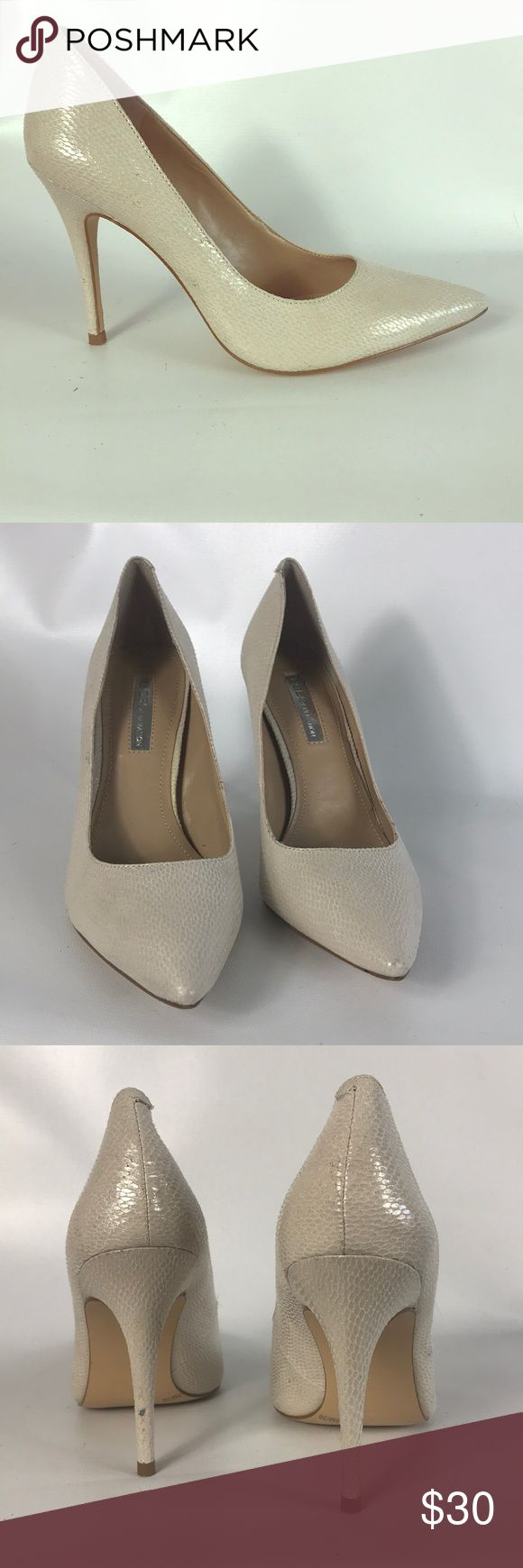 🎄SALE BCBGeneration pumps size 6 Condition 8/10, normal amount of scuffs around both shoes from normal wear, one bigger on the back of the left heel, check the pictures, some small stains around both shoes, heel height 4', worn couples of times, still great, same day or the very next day available. Thank you BCBGeneration Shoes Heels