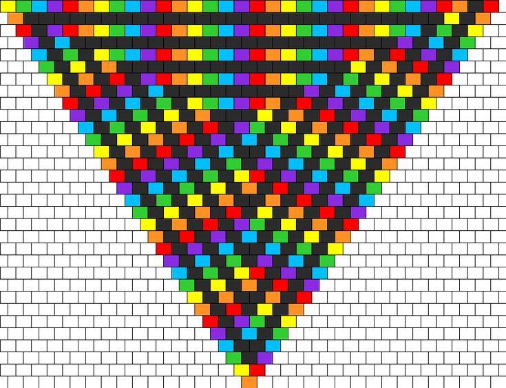 Peyote Bead Patterns | rainbow kandana bead pattern this is a peyote stitch bead pattern ...