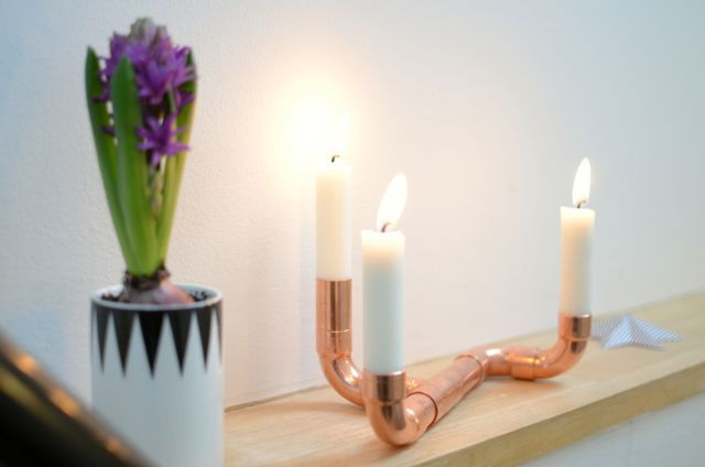 KreaVilla: Kobber-lysestager DIY