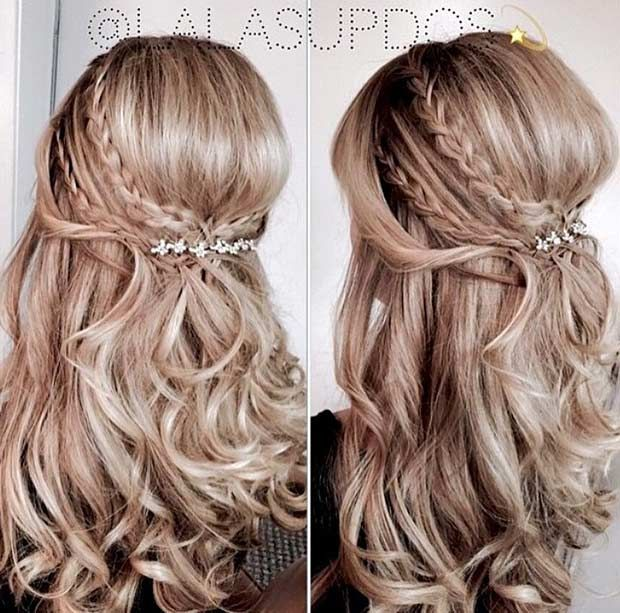 21.Messy Half up Style with a Hairpiece Messy hair is trending. As you all probably know, messy hair is trending and has been for several seasons now. Messy hair looks amazing if the wedding theme is shabby chic or vintage. It will perfectly fit in. When we say messy, we don't mean look like a …