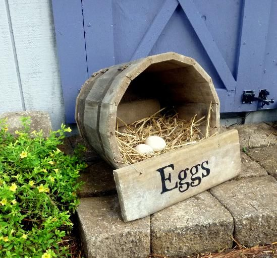 For an easy weekend project, make this cute portable chicken nesting box out of a wooden half barrel in just a few minutes.  A portable nesting box has many uses and your cost can be minimal if you repurpose materials you have lying around.