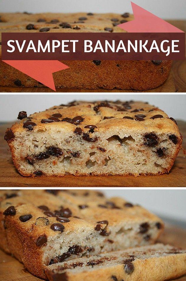 Perfekt banankage med en utrolig svampet konsistens og masser af dejlige chokoladestykker, som tilføjer lidt herligt knas til kagen.