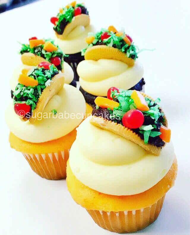 Taco Cupcakes - Cinco de Mayo / Mexican Parties