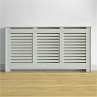 Virginia Radiator Cabinet Cover - Smooth White - (W)170.5 x (H)87.8 x (D)20.3cm at Homebase.co.uk