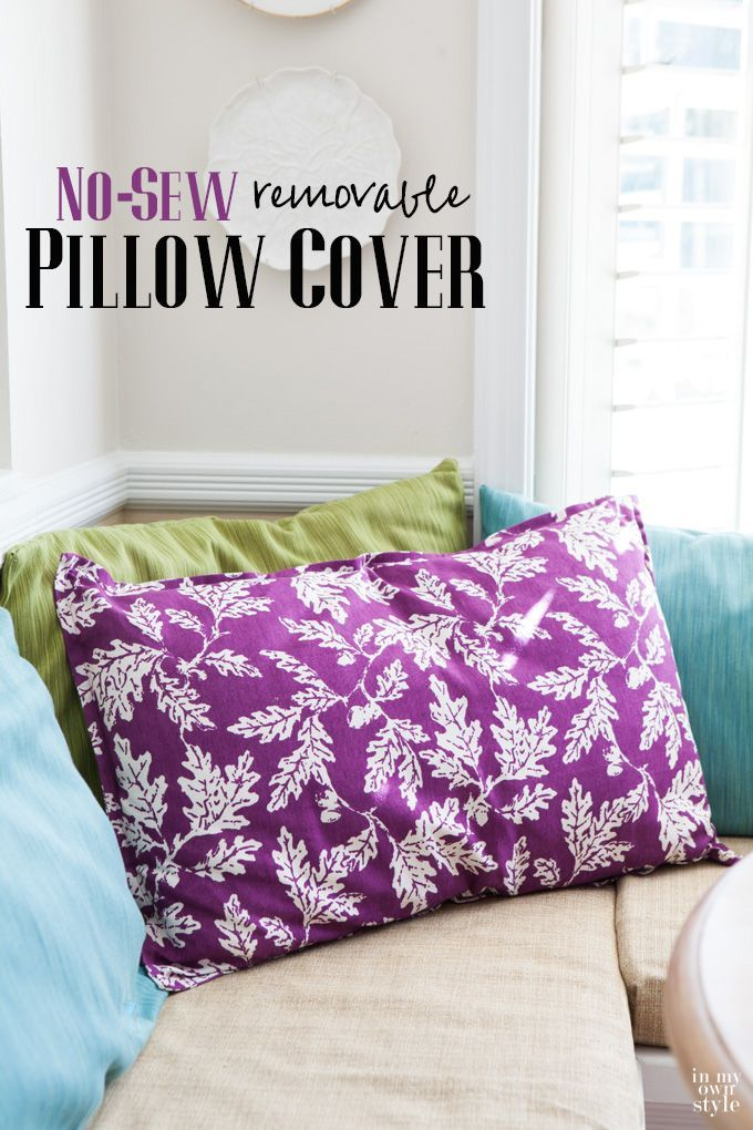 wait to you see how easy this diy no sew pillow cover is to make when