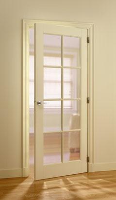Binnendeur met glas